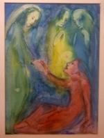Die Auferweckung des Lazarus  (Aquarell 1, nicht datiert).